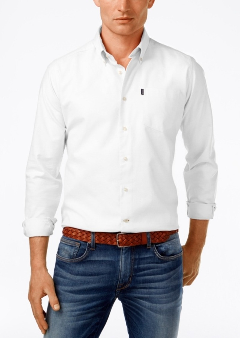 Barbour Men's Stanley Solid Oxford Long-Sleeve Shirt