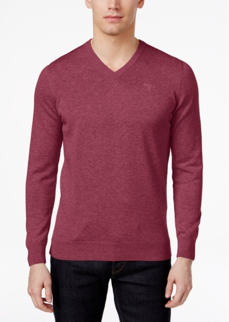 Barbour Barbour Men's V-Neck Pima Cotton Sweater | Sweaters - Shop ...