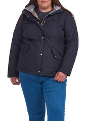 Barbour Millfire Diamond Hooded Quilted Jacket (Plus Size)