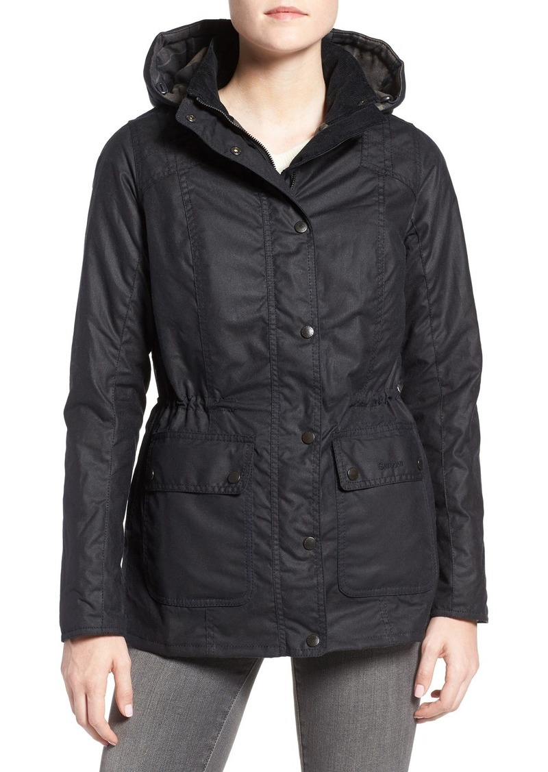 Barbour 'Orkney' Waxed Cotton Anorak with Removable Hood