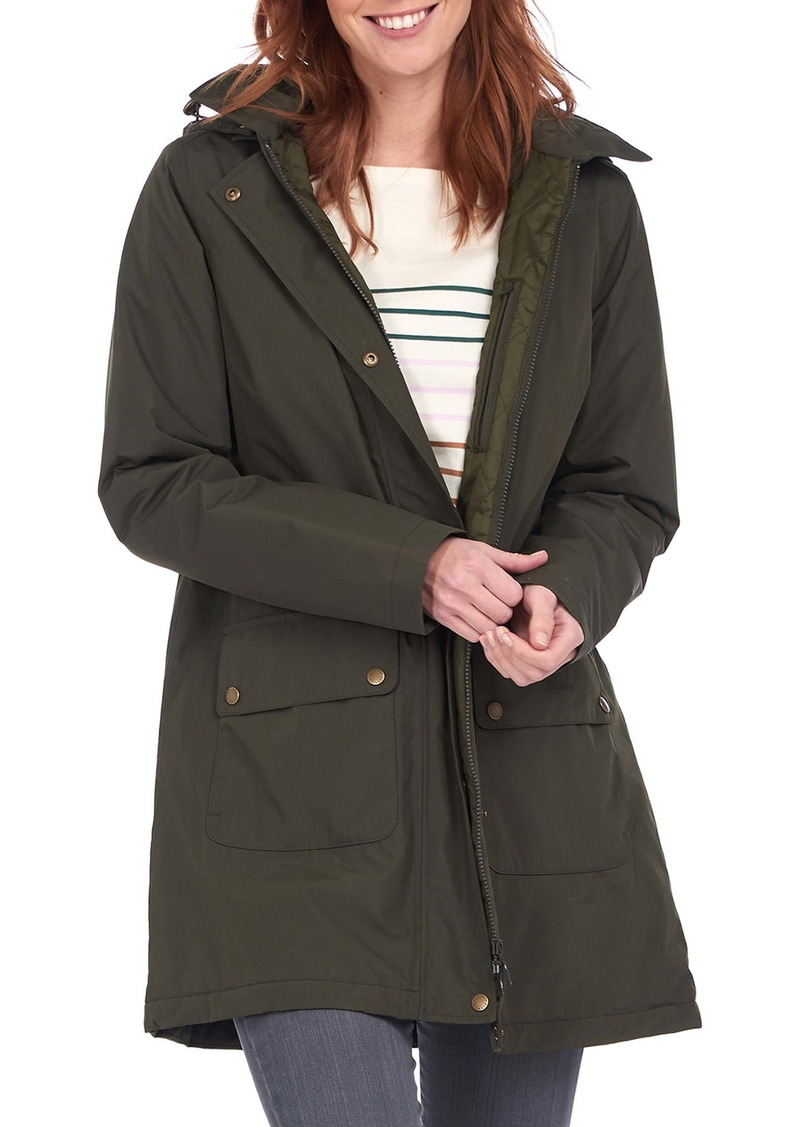 Barbour Pines Waterproof Rain Jacket with Removable Hood