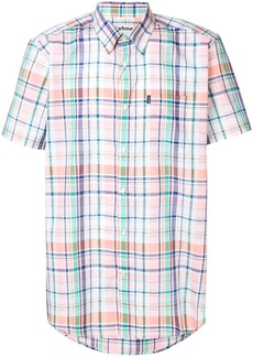 Barbour plaid short sleeved shirt - Pink & Purple