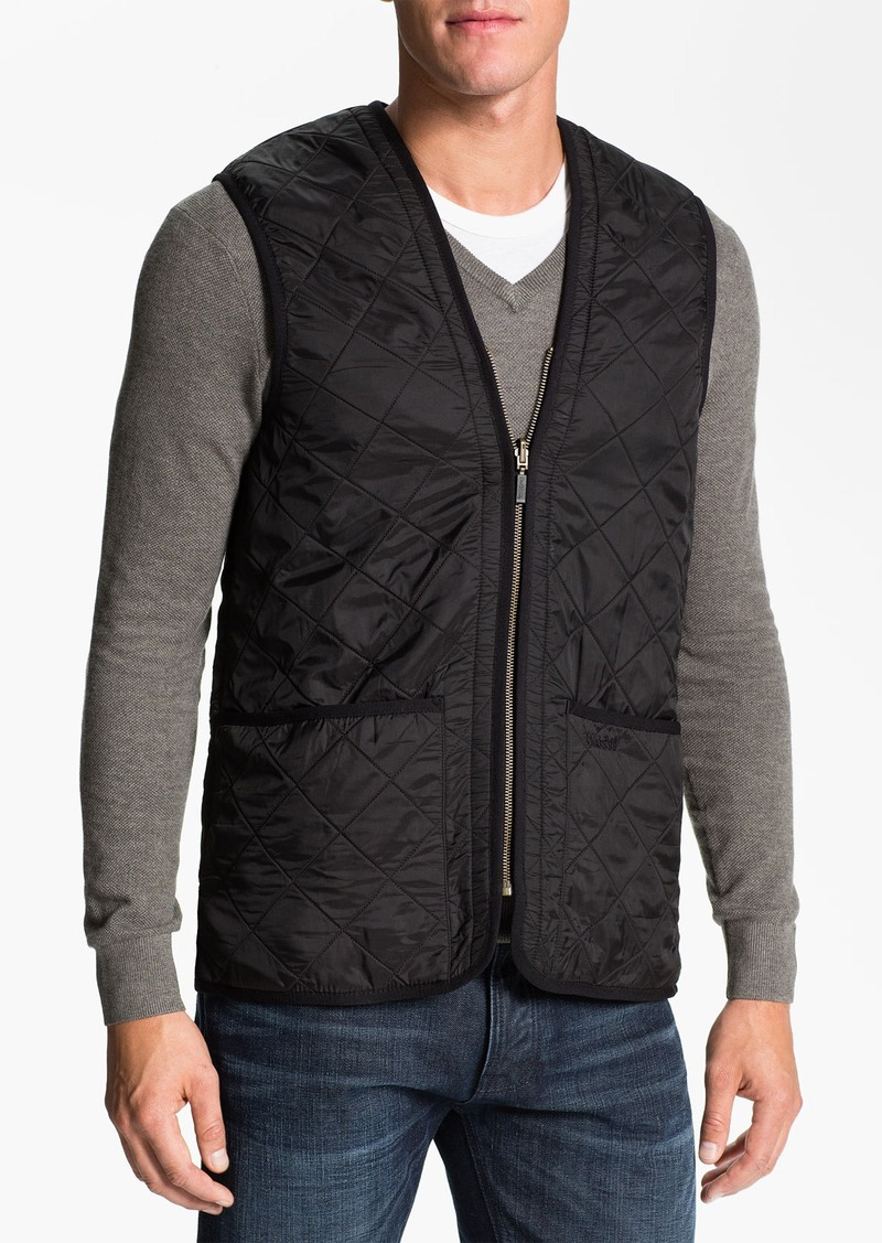 Barbour 'Polarquilt' Relaxed Fit Zip-In Liner Vest
