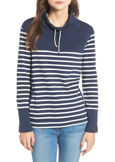 Barbour Rief Stripe Cotton Funnel Neck Sweater