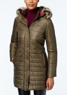 Barbour Rossendale Faux-Fur Hooded Quilted Puffer Coat