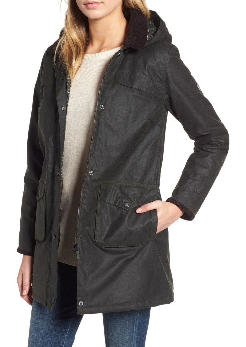 Barbour Sandbanks Water Resistant Waxed Cotton Hooded Jacket