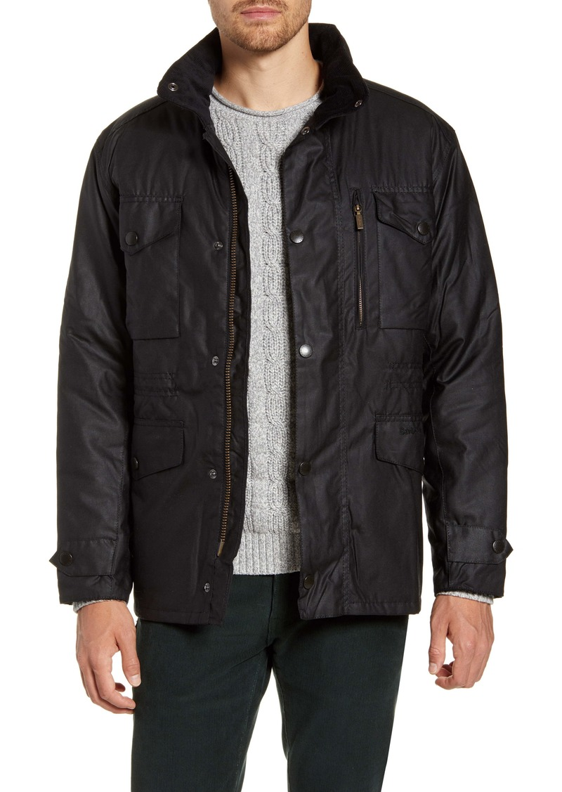 Barbour Sapper Regular Fit Weatherproof Waxed Cotton Jacket