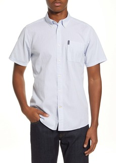 Barbour Seersucker 5 Tailored Fit Short Sleeve Button-Down Shirt