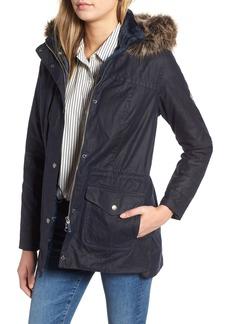 Barbour Southwold Jacket with Faux Fur Lining & Trim