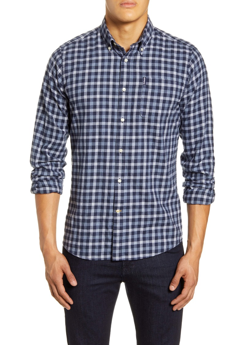 Barbour Tailored Fit Check Button Down Shirt