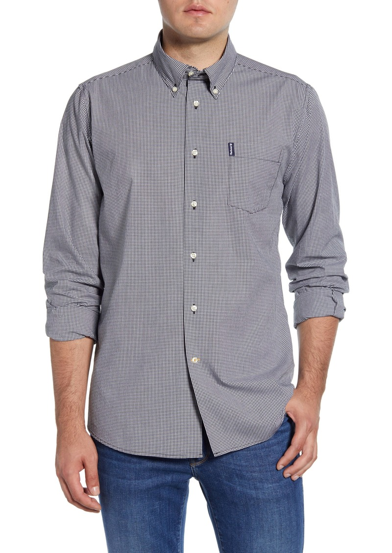 Barbour Tailored Fit Gingham Check Button-Down Shirt