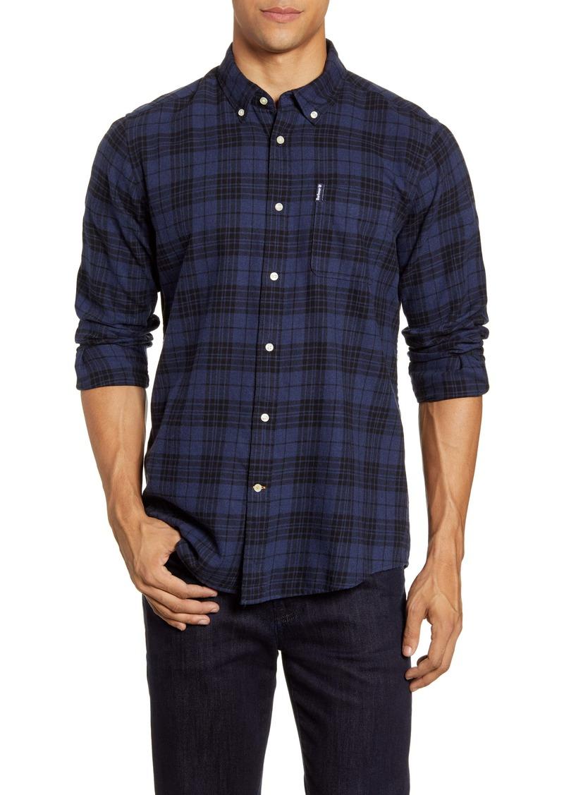 Barbour Tailored Fit Plaid Button Down Shirt