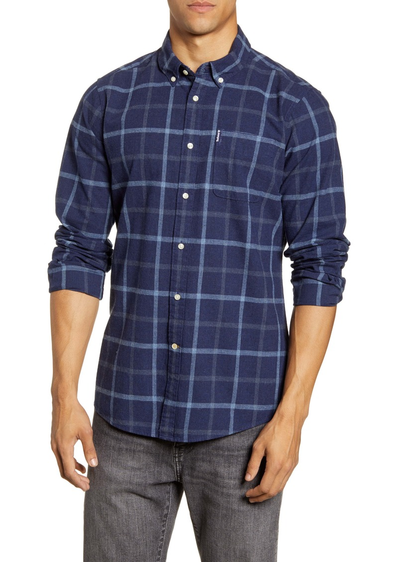 Barbour Tailored Fit Windowpane Button Down Shirt