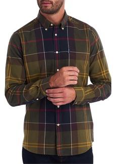 Barbour Tartan 5 Tailored Fit Plaid Button-Down Flannel Shirt