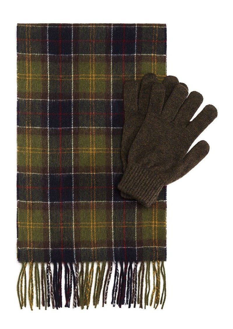 Barbour Tartan Scarf & Glove Gift Set