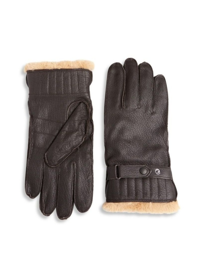 Barbour Textured Leather Gloves