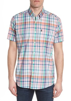Barbour Triston Regular Fit Plaid Short Sleeve Sport Shirt