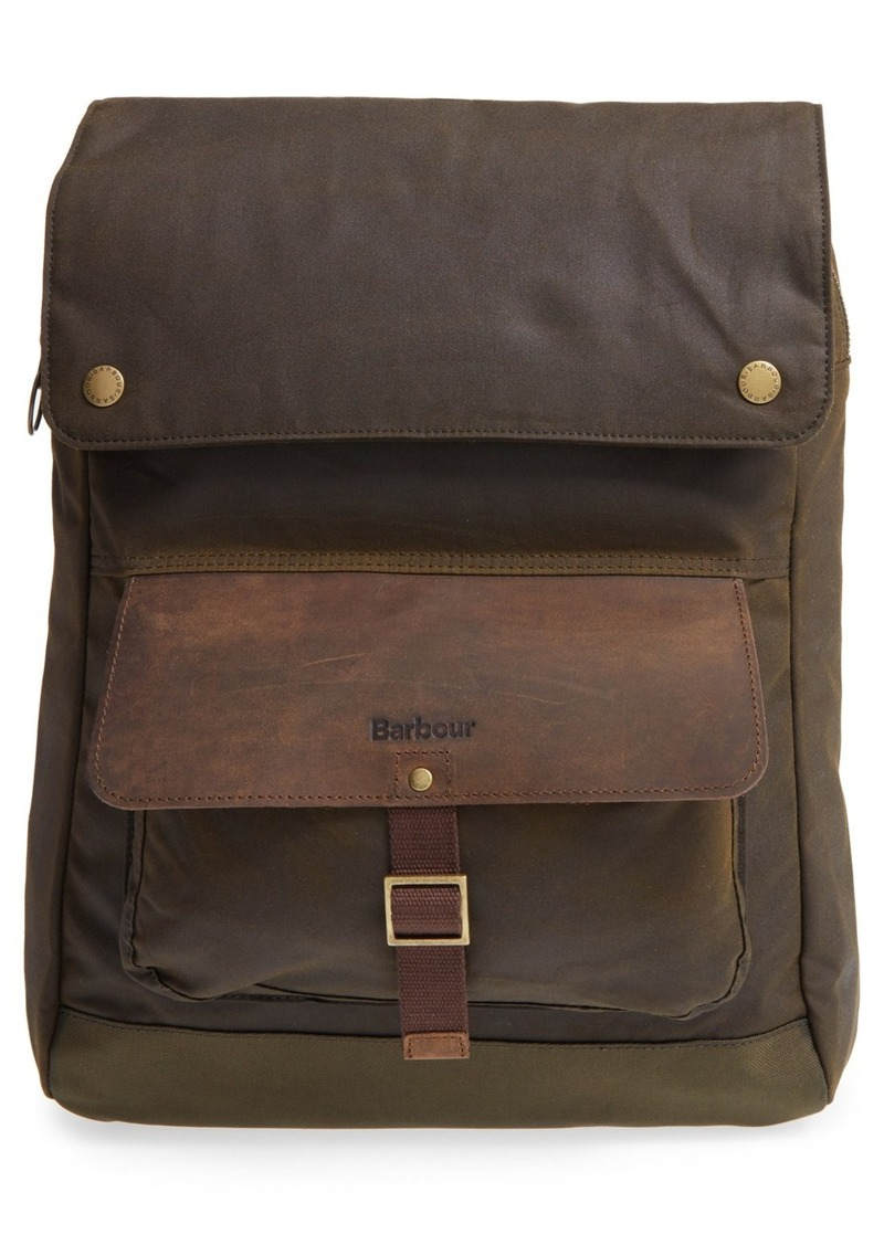 Barbour Waxed Canvas Backpack