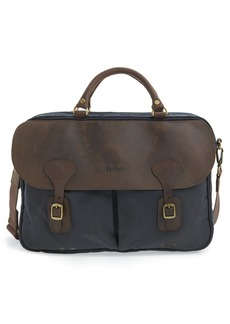 Barbour Waxed Canvas Briefcase