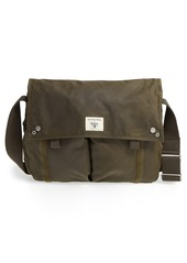 Barbour Waxed Canvas Messenger Bag