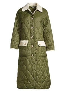 Barbour x Alexa Chung Annie Corduory Trim Quilted Coat