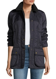Barbour Beadnell Diamond Polar-Quilt Jacket  Navy