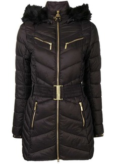 Barbour belted hooded parka