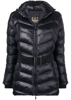 Barbour belted padded jacket