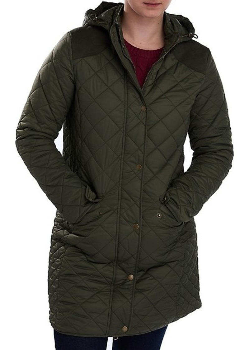 Barbour Burne Quilted Hooded Longline Jacket