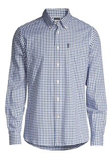 Barbour Button-Front Gingham Shirt