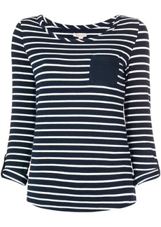 Barbour chest pocket striped top