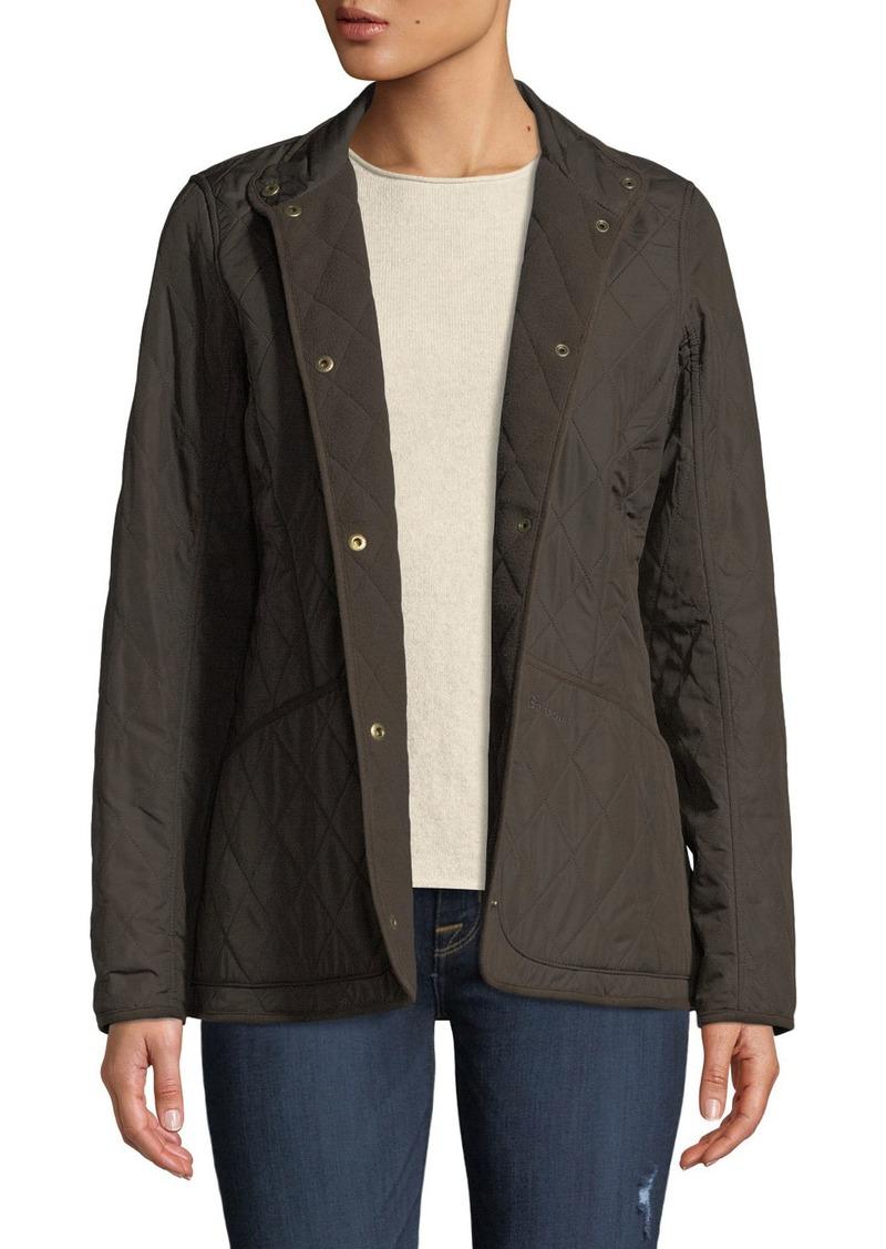 Barbour Combo Polarquilt Jacket w/ Suede Edges