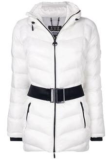 Barbour contrast belt padded jacket