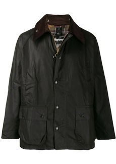 Barbour contrast-collar light jacket