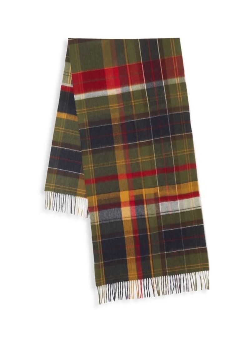 Barbour Fade Tartan Wool Scarf