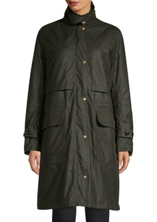 Barbour Faux Fur Trimmed Floree Waxed Coat