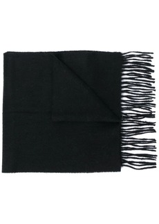 Barbour fringed knit scarf