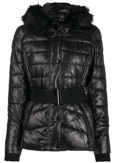 Barbour fur collar puffer jacket