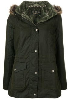 Barbour fur hood trim padded jacket