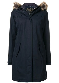 Barbour fur hood trim parka