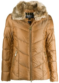 Barbour fur lined jacket