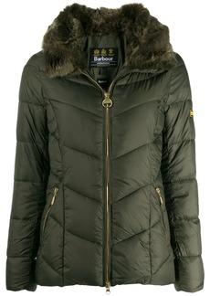 Barbour fur trimmed collar jacket
