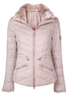 Barbour furry collar padded jacket