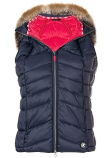 Barbour furry hood padded gilet
