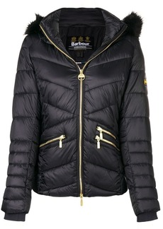Barbour furry hood padded jacket