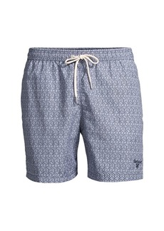 Barbour Geo-Print Swim Trunks