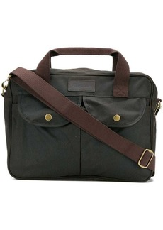 Barbour logo patch briefcase