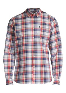 Barbour Madras Plaid Button-Down Shirt