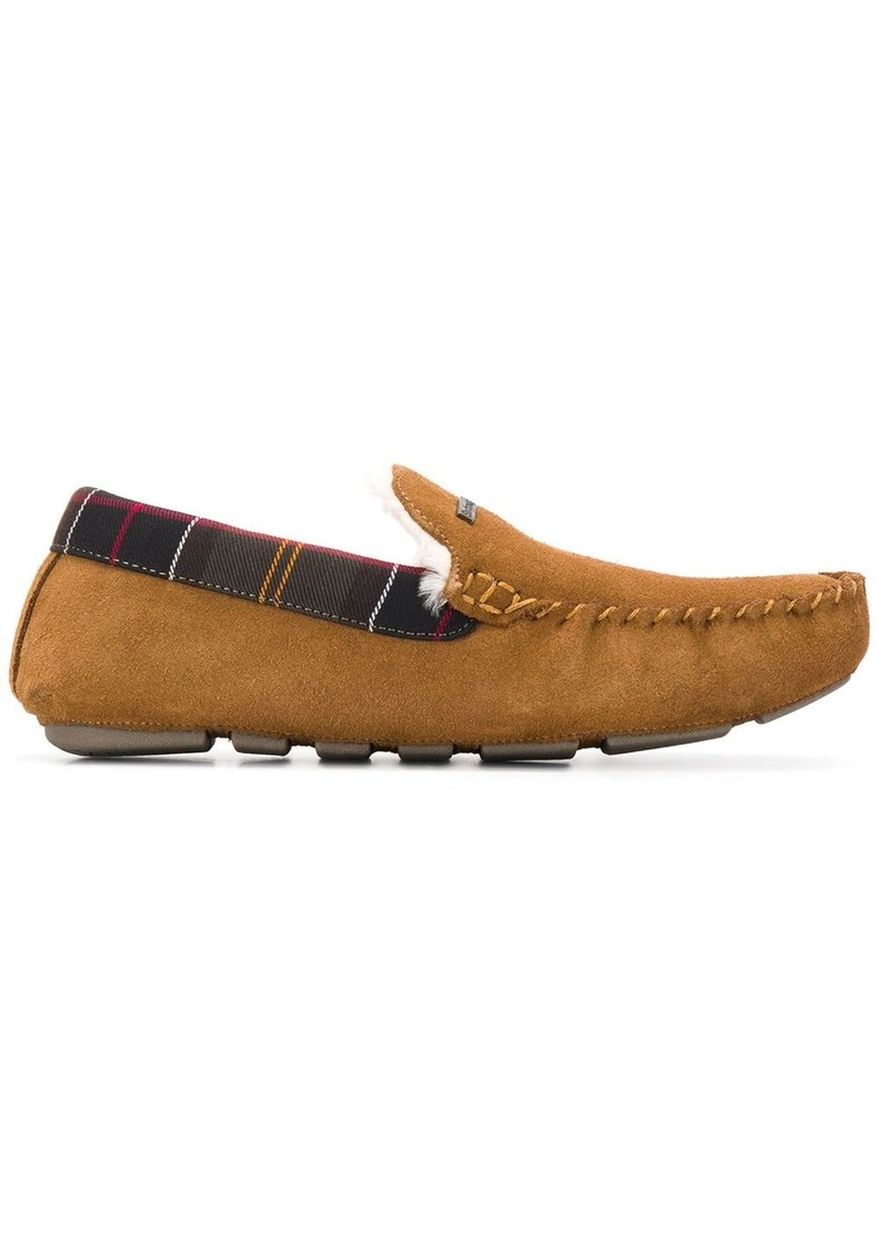 Barbour Monty check detail slippers