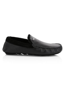 Barbour Monty Faux Shearling-Lined Leather Moccasins